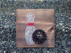 Bowling pin & ball string art