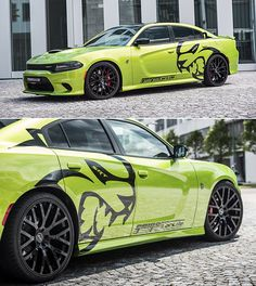 Dodge Charger SRT Hellcat by GeigerCars - ThrottleXtreme Us Cars, Sport Cars, Dodge Charger Hellcat, Challenger Hellcat, Dodge Hellcat Demon, Best Classic Cars, Racing Stripes, American Muscle Cars, Volkswagen Golf