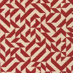 #KnollTextiles Eclat Weave in Scarlet. Weaver and printmaker Anni Albers orignally designed Eclat in 1974 as a printed upholstery. Reintroduced as Eclat Weave, the pattern is now a woven textile.     See it in our Shop here: http://www.knoll.com/knolltextileproductdetail/Eclat+Weave