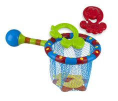 The Nuby Splash 'n Catch bathtime fishing set teaches coordination, development and enjoyment. This toy is designed with your baby in mind. This product exceeds all government safety regulations and standards.