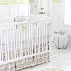 New Arrivals Crib Bedding Pedal Pusher Lavender