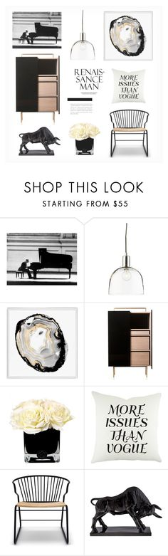 """""""black and some more."""" by dressesanddressers on Polyvore featuring interior, interiors, interior design, home, home decor, interior decorating, Crate and Barrel, Natural Curiosities, Hervé Gambs and Universo Positivo"""