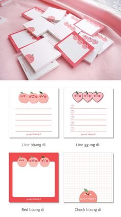 Korean Stationery, Cute Stationery, Stationery Design, Stationary, Journal Stickers, Planner Stickers, Memo Notepad, Note Doodles, School Scrapbook