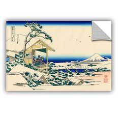 Tea House At Koishikawa. the Morning After A Snowfall. by Katsushika Hokusai Painting Print on Canvas