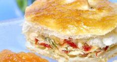 Receta de Hojaldre relleno de pollo con tomate salteado