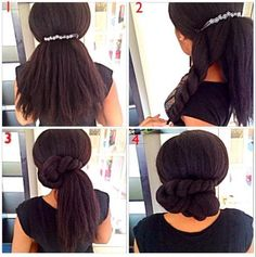 South African natural Blackbeauty Kween shows us how to do a simple, elegant bun.