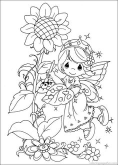 Precious Moments Coloring Pages 42