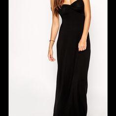 ASOS black maxi dress Black maxi beach dress ASOS Dresses Maxi