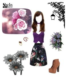 """""""shein: floral skirt1"""" by brebriz on Polyvore featuring Breckelle's, Eddera and J.TOMSON"""