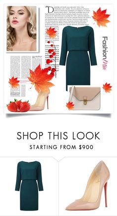 """Fashion set #14"" by dandi-gramov ❤ liked on Polyvore featuring Christian Louboutin, 8, Balmain, women's clothing, women's fashion, women, female, woman, misses and juniors"