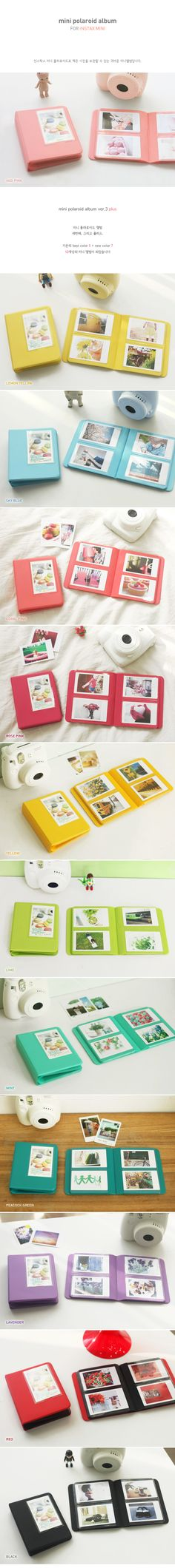 New Polaroid Photo Album for Fuji Instax mini ver 3 plus Indi pink Fuji Instax Mini, Polaroid Instax Mini, Polaroid Photo Album, Fujifilm Instax Mini 8, Instax Camera, Polaroid Pictures, Polaroid Cameras, Instax Mini Ideas, Project Life