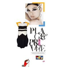 busy blocks, a mondrian-inspire #collage creation by chen on #polyvore - #fashion #art #colorblock