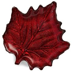 Two'S Company  Leaf Plate ($11) ❤ liked on Polyvore featuring home, kitchen & dining, red and two's company