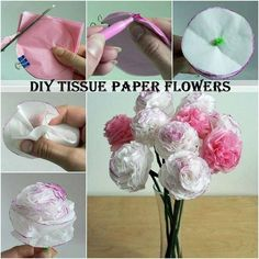 Creative Ideas – DIY Beautiful Tissue Paper Flowers - Diy and Crafts Handmade Flowers, Diy Flowers, Fabric Flowers, Wedding Flowers, Flowers Vase, Cheap Flowers, Order Flowers, Flowers Online, Carnations