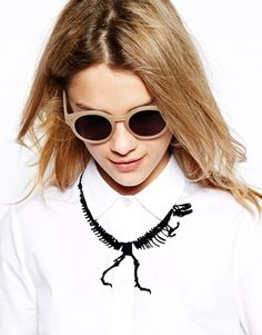 Tatty Devine Black Dinosaur Necklace