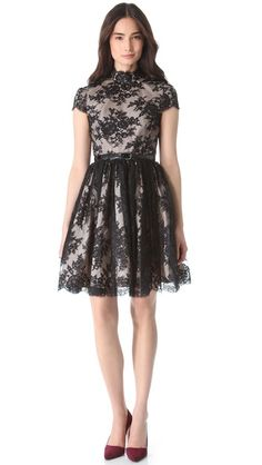 alice + olivia Jayna Open Back Dress