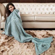 grey mermaid blanket,mermaid,mermaid tail,mermaid tails,mermaid tail blanket,blanket,sofa mermaid blanket,cheap mermaid blanket,high quality mermaid blanket,knitted mermaid blanket