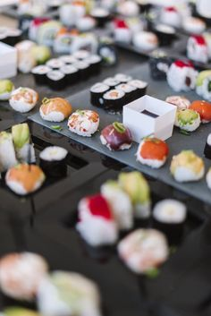 Sushi boda deco buffet estaciones Photo By Ana Lui Photography