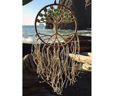 Macrame Tree of Life Dream Catcher Woven with Hemp Fiber & Glass Beads on 8 Inch Hoop / Woven Wall Hanging Tapestry / Vegan / Custom Gift Wiccan Decor, Spiritual Decor, Tree Tapestry, Tapestry Wall Hanging, Hula, Life Design, Design Art, Trippy, Catcher