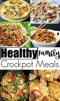 Healthy family crockpot meals- delicious and nutritious slow-cooker meals for the whole family to enjoy. Healthy Dinner Recipes For Weight Loss, Healthy Family Meals, Healthy Cooking, Healthy Eating, Cooking Recipes, Easy Healthy Crockpot Meals, Nutritious Meals, Cooking Bacon, Recipes Dinner