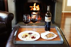 Private fireplaces in our individual cottages are an ideal location to curl up with a loved one.