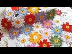 Easy Crochet Flower Tutorials - Learn to Crochet - Crochet Kingdom - These Easy Crochet Flower Tutorials are suitable for advanced beginners. Learn how to crochet a flo - Crochet Simple, Love Crochet, Learn To Crochet, Crochet Flower Tutorial, Crochet Flower Patterns, Crochet Flowers, Crochet Motifs, Crochet Doilies, Crochet Stitches