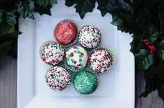 Christmas Cake Pops Truffles