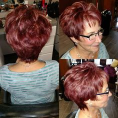 Burgundy Pixie For Over 50