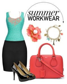 """""""#1 Summer work wear."""" by sequoiafaie ❤ liked on Polyvore featuring Thalia Sodi, Boohoo, Humble Chic, Bally, Chinese Laundry, Kenneth Jay Lane and claire's"""