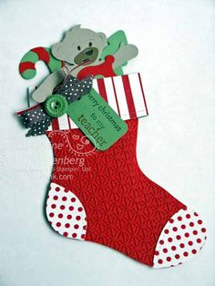 Jan's stuffed stocking ... gift card holder