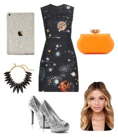 """""""Galaxy Agent"""" by stylistlilleepete ❤ liked on Polyvore featuring Valentino, Franchi and Oscar de la Renta"""