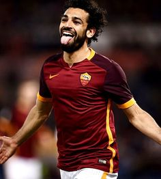 Roma's midfielder from Egypt Mohamed Salah celebrates after scoring during the Italian Serie A football match Roma vs Palermo at the Olympic Stadium in Rome on February / AFP / FILIPPO Get premium, high resolution news photos at Getty Images Mohamed Salah Egypt, Muhammed Salah, Chelsea, Mo Salah, Club World Cup, World Cup Winners, As Roma, Football Match, Africa