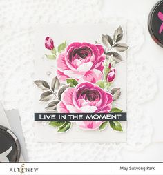 Build-A-Flower Rose Card with Stamp Layering Technique