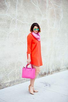 love orange and pink together