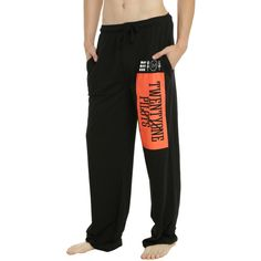 Hot Topic Twenty One Pilots Logo Guys Pajama Pants ($14) ❤ liked on Polyvore featuring men's fashion, men's clothing, men's sleepwear, 1920s mens clothing, roaring 20s mens clothing and 1920s style mens clothing