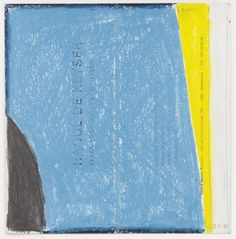 Raoul De Keyser » Zeven Voor Jeanne 1, 1980, penicil and oil chalk on invitation card, 21 x 20,6 cm @ David Zwirner
