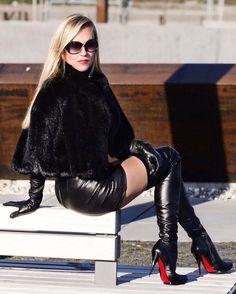 Australian boots gold chain heel genuine leather high heels suede knee high