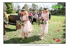 These flower girls looked lovely in their light pink dresses and green flower crowns for this @barrmansion brunch wedding! See more at http://www.hydeparkphoto.com/barr-mansion-brunch-wedding/ ||| Austin weddings, Austin wedding photographers, Texas wedding photographers, Austin wedding venues, Austin wedding venues outdoors, Barr Mansion, organic wedding venue, brunch wedding, Hyde Park Photography, wedding blog, wedding ideas, flower girl ideas, wedding flower crowns