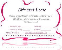 Printable Gift Vouchers Template Snow Crystals Christmas Gift Certificate Template #giftvoucher .