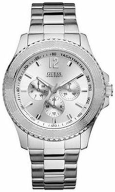Guess Men's U10603G1 Stainless-Steel Quartz Watch with Silver Dial GUESS. $89.25. Steel Bracelet Strap. Date. Water Resistance : 10 ATM / 100 meters / 330 feet. Save 15% Off!
