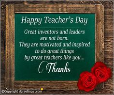 Wish them a happy Teacher's day with our beautiful collection of Teachers' Day Cards. Teachers Day Card Message, Thoughts For Teachers Day, Teachers Day Card Design, Teachers Day Pictures, Quotes On Teachers Day, Greeting Cards For Teachers, Best Teacher Quotes, Teachers Day Poster, Teacher Appreciation Quotes