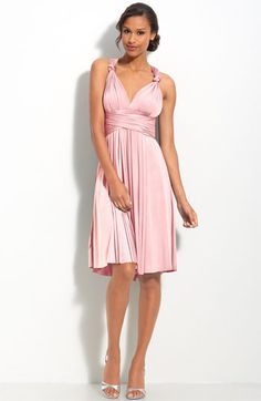 Convertible dress can be sleeves, strapless, halter, backless, etc etc etc...good reviws!  twobirds Convertible Jersey Dress | Nordstrom