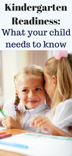 How do know if your kids ready for kindergarten. What kinds need to know before kindergarten. Kindergarten readiness