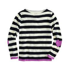 Girls' heart-patch sweater