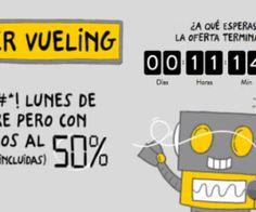 Cyber Monday de Vueling: Solo hasta medianoche vuelos al 50% de descuento
