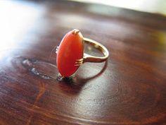千本透かし blog / CLASSICS HAKOZAKI / 昭和ジュエリー: 516:珊瑚 K18 千本透かしではありませんが… K18 リング #14 Gemstone Rings, Gemstones, Jewelry, Jewlery, Gems, Jewerly, Schmuck, Jewels, Jewelery