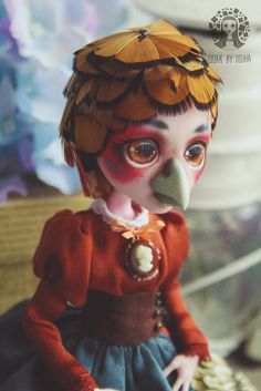 OOAK Custom Monster High Doll Miss Pheasant