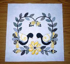 Bird Applique, Wool Applique Patterns, Applique Ideas, Quilt Block Patterns, Applique Quilts, Pattern Blocks, Quilt Blocks, Embroidery Patterns, Quilting Tools