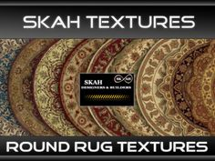 [SKAH TEXTURES] - Round Rugs