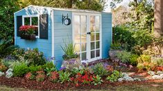 How to renovate a garden shed: This renovated shed is pretty enough to consider using as a guesthouse! Learn how to change the look of your garden shed by adding cladding ...